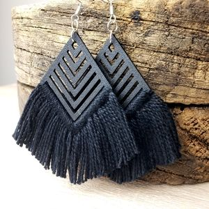 Lightweight 3D Printed Boho Tassel Earrings